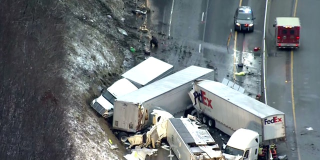 The crash happened on the Pennsylvania Turnpike in Westmoreland County, around 40 miles southeast of Pittsburgh.