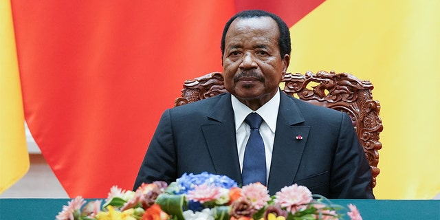President of Cameroon Paul Biya with Chinese President Xi Jinping (not pictured) attend a signing ceremony at The Great Hall Of The People on March 22, 2018 in Beijing, China. (Photo by Lintao Zhang/Getty Images)