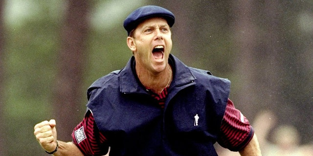 20 Jun 1999: Payne Stewart of the United States celebrates victory during the last day of the 1999 US Open played on the number two course at Pinehurst in North Carolina, USA. Mandatory Credit: David Cannon /Allsport