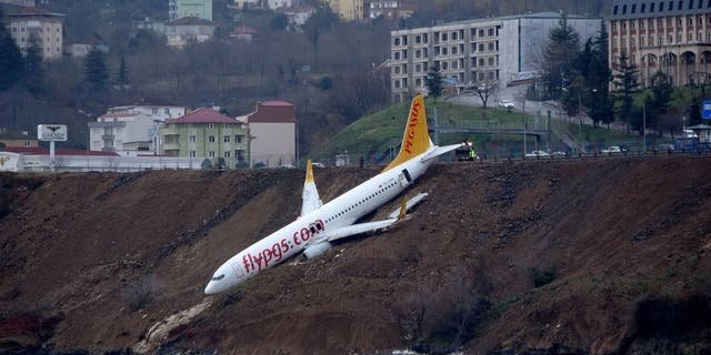 In 2018, a Pegasus Airlines passenger plane skidded off the runway at Turkey's Trabzon airport near the Black Sea. No one was injured.