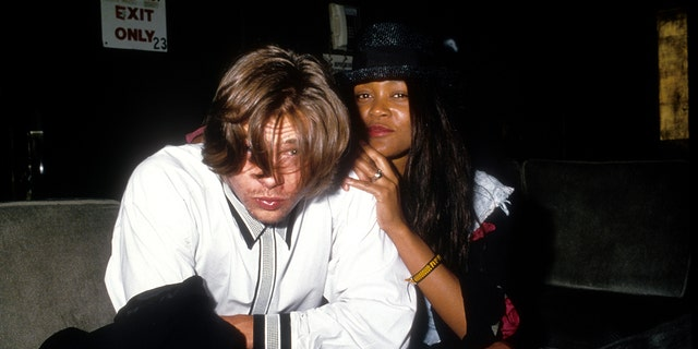 Brad Pitt and Robin Givens were romantically linked after he appeared on her sitcom.