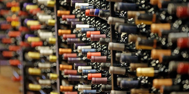 FILE - In this archive photo of June 16, 2016, bottles of wine are shown during a tour of a state liquor store in Salt Lake City. (AP Photo / Rick Bowmer, Archive)