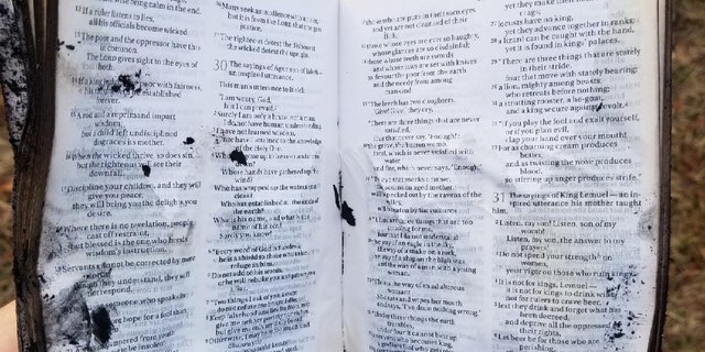 Ashlee Pham said her family's Bible was opened to a comforting verse after their house burned down the day after Christmas.