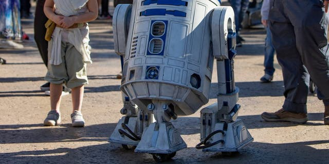 """R2-D2, arguably the cutest droid in the galaxy before BB-8 came along, is now """"gliding around"""" freely at Disneyland's Star Wars: Galaxy's Edge."""