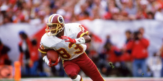 Ricky Sanders set a receiving mark in Super Bowl XXII. (Photo by Owen C. Shaw/Getty Images)