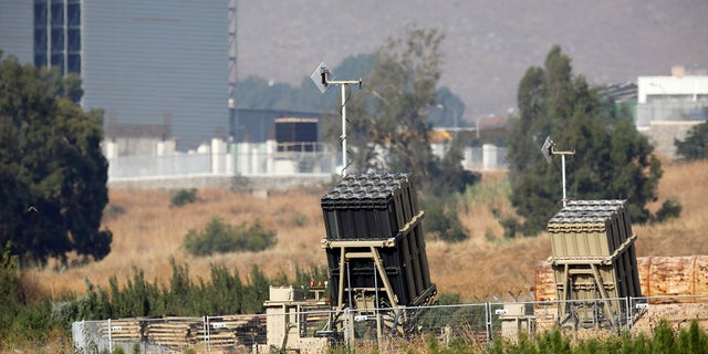 The Iron Dome air defense system is seen at the Israeli side of the border between Israel and Lebanon in August 2019.
