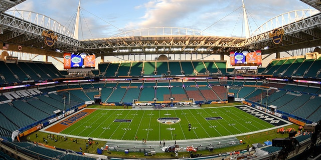 Dec 30, 2019; Miami Gardens, Florida, USA; A general view of Hard Rock Stadium.