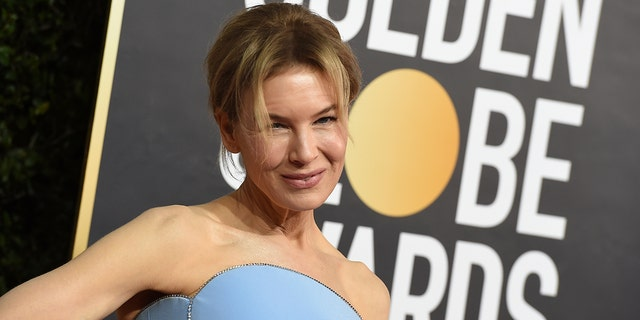 Renee Zellweger arrives at the 77th annual Golden Globe Awards at the Beverly Hilton Hotel on Sunday, Jan. 5, 2020, in Beverly Hills, Calif.