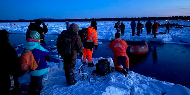Russia's emergency services rescued 536 ice fishermen after they got stranded on a giant ice floe that broke off the island of Sakhalin in eastern Siberia.