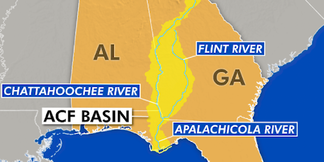 The ACF river basin is comprised of three rivers including the Apalachicola River, Chattahoochee River, and Flint River.
