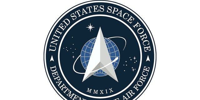 The flag is derived from the Space Force seal, seen here.