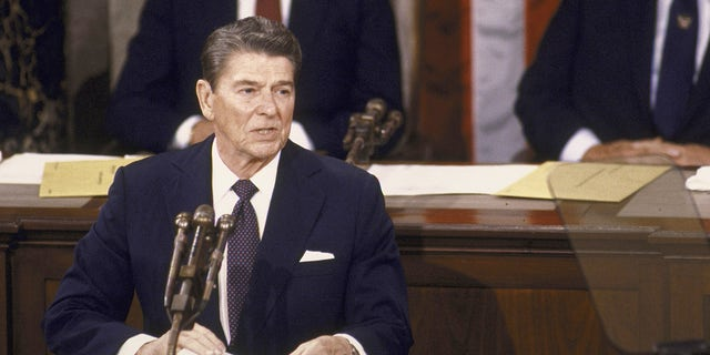 Ronald Reagan State of the Union speech. (Photo by Dirck Halstead/The LIFE Images Collection via Getty Images/Getty Images)