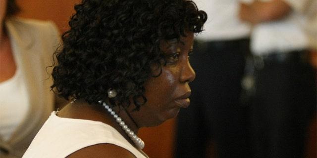 Ursala Ward, mother of victim Odin Lloyd (AP Photo/The Boston Globe, George Rizer, Pool)