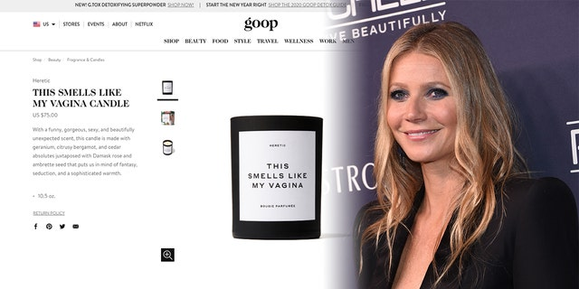 "Goop describes the candle as ""a funny, gorgeous, sexy, and beautifully unexpected scent."" (Photo: Getty Images/Goop)"