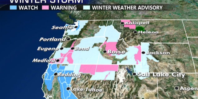 Winter storm watches, warnings, and advisories have been posted across the region due to the series of storms.