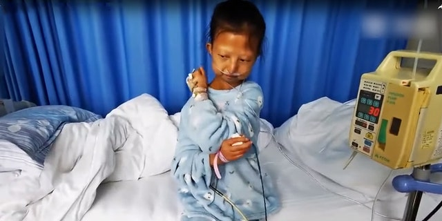 Wu Huayan, 24, weighed only 43 lbs. when she was admitted to the hospital in October 2019.