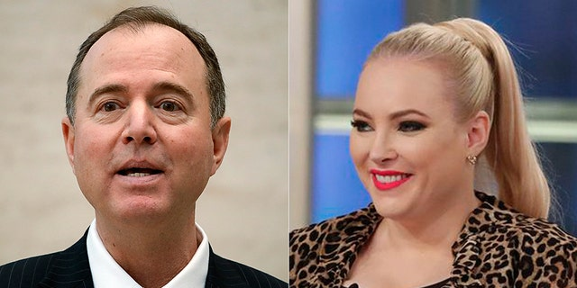 """House Intelligence Committee Chairman Adam Schiff joined """"The View"""" on Monday and was grilled by Meghan McCain."""