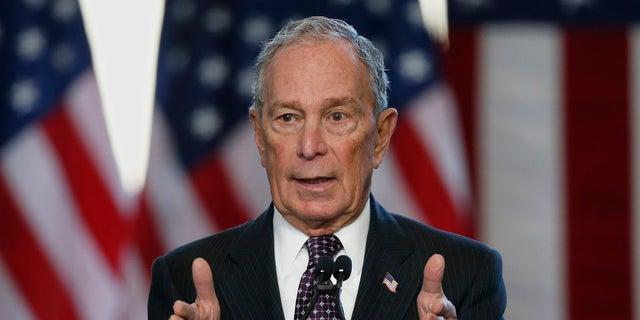 Democratic presidential candidate Michael Bloomberg speaks at the Greenwood Cultural Center in Tulsa, Okla., Sunday, Jan. 19, 2020. (AP Photo/Sue Ogrocki)