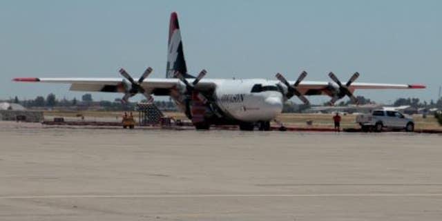 The C-130 Hercules at McClellan Air Force Base in California.