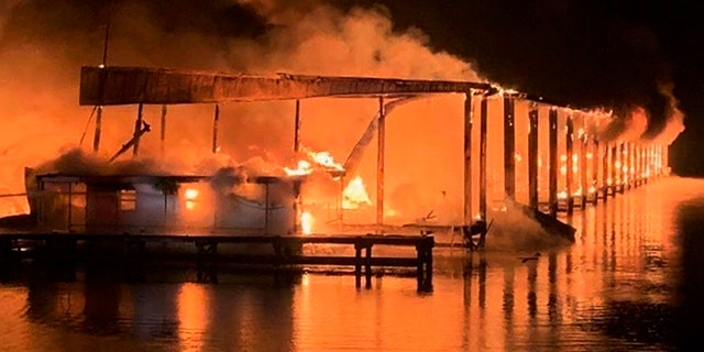 Officials say the fire killed eight people. (AP/Jackson County Sentinel)