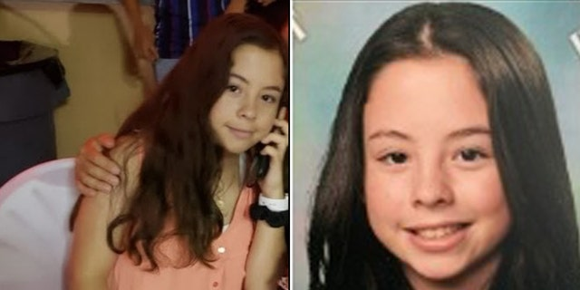 Amberly Nicole Flores, 13, last seen wearing a white jacket and blue jeans and carrying a pink backpack.