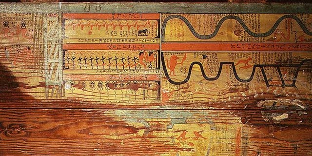 The floor of one of the coffins of Gua, a physician of the governor Djehutyhotep.