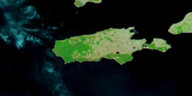 This is a Terra satellite image of Kangaroo Island taken on Dec. 16, 2019.