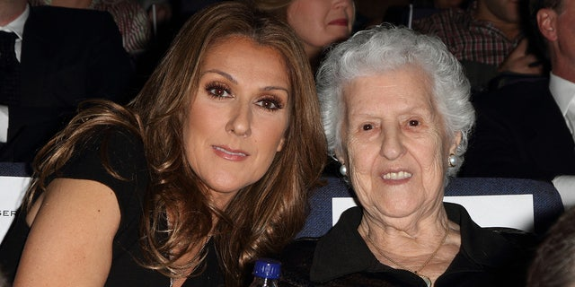 Celine Dion and Therese Tanguay Dion attend the premiere of Celine: Through The Eyes of The World presented by Piaget at Regal South Beach Cinema on February 16, 2010 in Miami Beach, Florida.