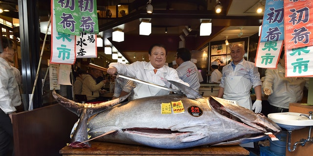 Westlake Legal Group bluefin-tuna Japanese 'Tuna King' pays $1.8 million for bluefin tuna at New Year's auction fox-news/great-outdoors/fishing fox-news/food-drink/food/restaurants fox news fnc/food-drink fnc e9a9a360-072f-5e31-ae07-566de31d4ad8 article Alexandra Deabler