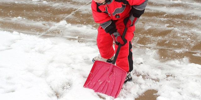 One little boy in Newfoundland discovered the challenges of shoveling snow.