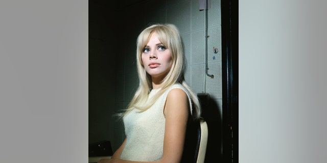 Britt Ekland on the set of the television show ​​​​​​'The Trials of O'Brien.'