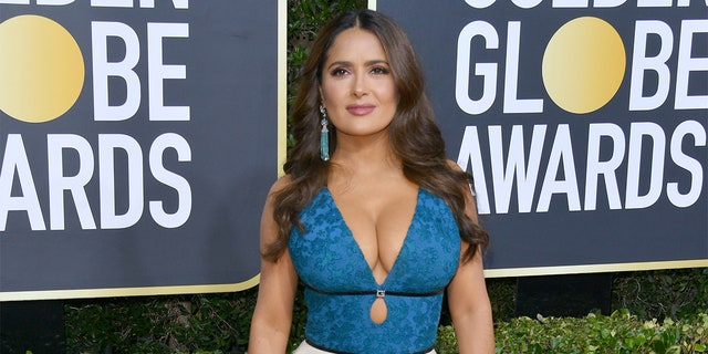 Salma Hayek attends the 77th Annual Golden Globe Awards