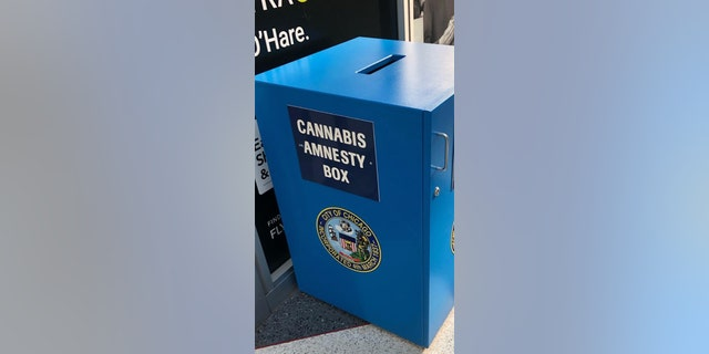 Police in Chicago say an incoming traveler at Midway Airport managed to steal marijuana from one of the facility鈥檚 鈥淐annabis Amnesty Boxes鈥� on Wednesday.