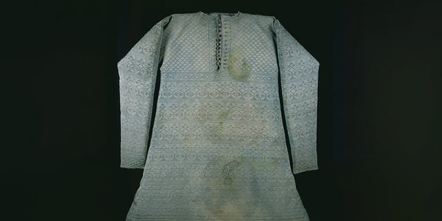 The silk vest or waistcoat said to have been worn by Charles I at his execution on Jan. 30, 1649.