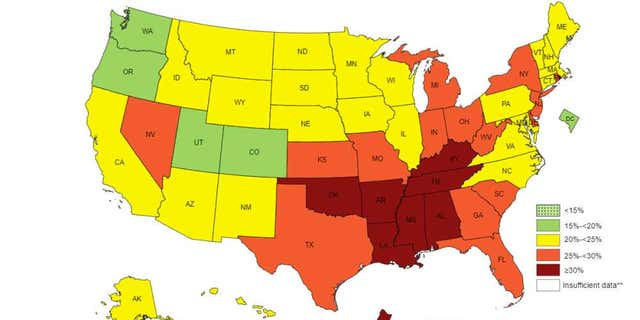 gardening The map of physical inactivity levels across the U.S.