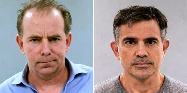 """Kent Mawhinney, a 54-year-old practicing attorney from South Windsor (left), was arrested by Connecticut State Police Tuesday for conspiracy to commit murder in connection with the May 24 disappearance of Jennifer Dulos. Police said he was aa """"close personal friend"""" of Fotis Dulos (right)."""