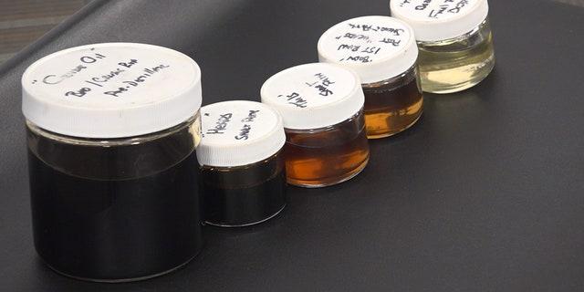 Marijuana crude oil gets clearer as it's distilled, ready for vaping. (Stephanie Bennett/Fox News)