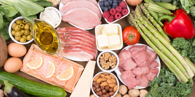 The Med diet encourages consumption of fruit, vegetables, whole-grain breads and cereals, legumes, nuts, seeds and olive oil with moderate amounts of fish, chicken, eggs and dairy and red meat once a week or less.