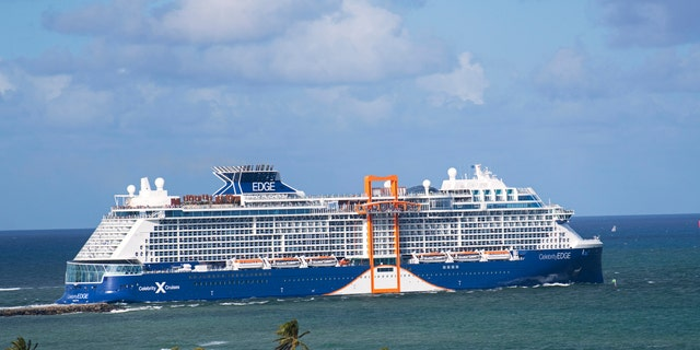 Pictured is the Celebrity Edge ship, a sister ship to the yet-unveiled Celebrity Apex.