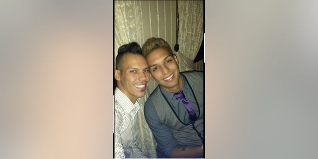 Michael Morales (right) pictured with his then-fiance, Martin Benitez, who was killed in the Pulse shooting (Michael Morales).