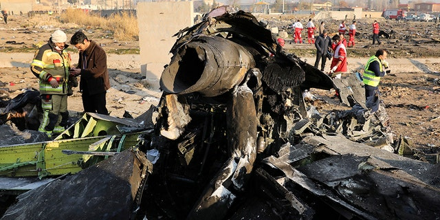The crash happened shortly after the plane departed Tehran's airport Wednesday morning.