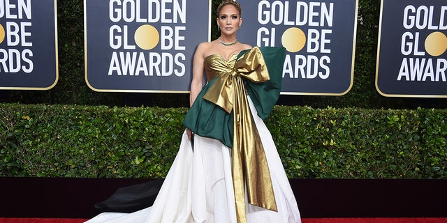 Jennifer Lopez arrives at the 77th annual Golden Globe Awards at the Beverly Hilton Hotel on Sunday, Jan. 5.