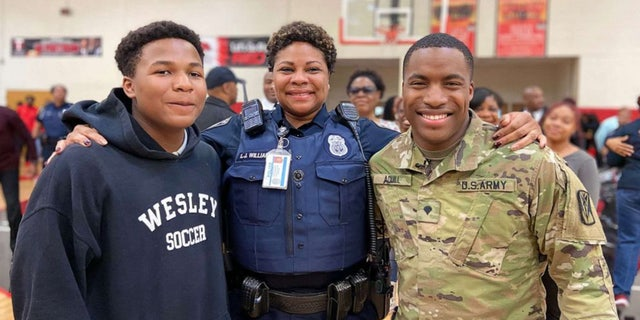 """""""She made everything amazing in my life. She tries her best,"""" the soldier commented of his close relationship with his mom."""