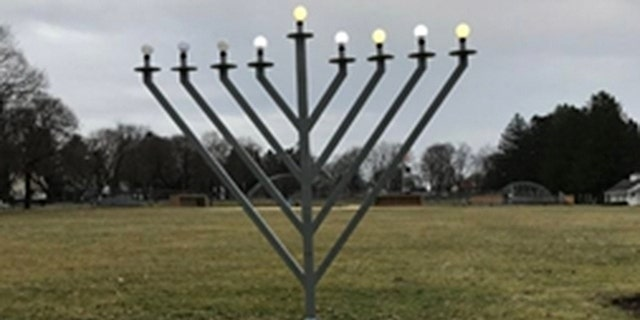 The menorah was located at the Mendham Borough Park on Park Avenue in Mendham, N.J. and knocked over sometime on Thursday night or Friday morning, according to officials.