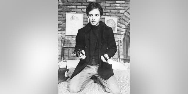 """Sal Mineo rehearsing for his play """"P.S. Your Cat is Dead."""""""