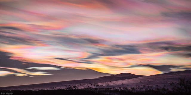 Nacreous clouds over Sweden.