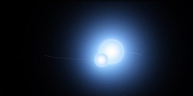 This animation illustrates a preliminary model of the Thuban system, now known to be an eclipsing binary thanks to data from NASA's Transiting Exoplanet Survey Satellite (TESS). The stars orbit every 51.4 days at an average distance slightly greater than Mercury's distance from the Sun. (Credit: NASA's Goddard Space Flight Center/Chris Smith (USRA))