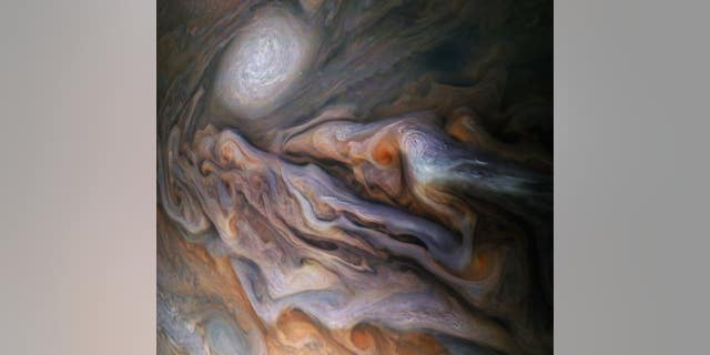 Westlake Legal Group nasa-juno-jupiter NASA's Juno captures stunning Jupiter image showing 'white oval' storm fox-news/science/jupiter fox-news/science/air-and-space/nasa fox-news/science fox news fnc/science fnc Christopher Carbone article 08a52bf7-7699-546f-a167-1319b5398ea0