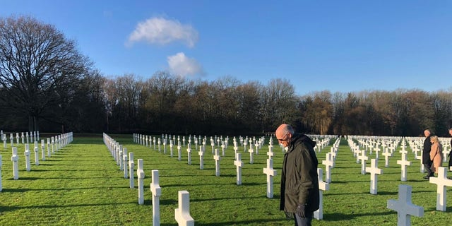 Sen. Rick Scott visiting the Ardennes American Cemetery and Memorial in Belgium to pay respects to the thousands of American men and women who lost their lives during World War II.