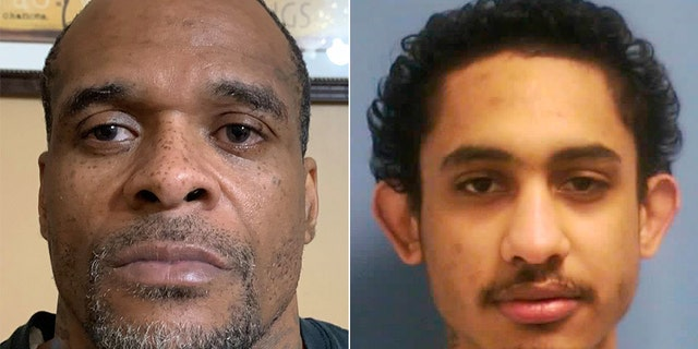 David May, left, is pictured after his capture. Dillion Williams, right, remains elusive Monday following his escape from the Mississippi State Penitentiary at Parchman over the weekend.